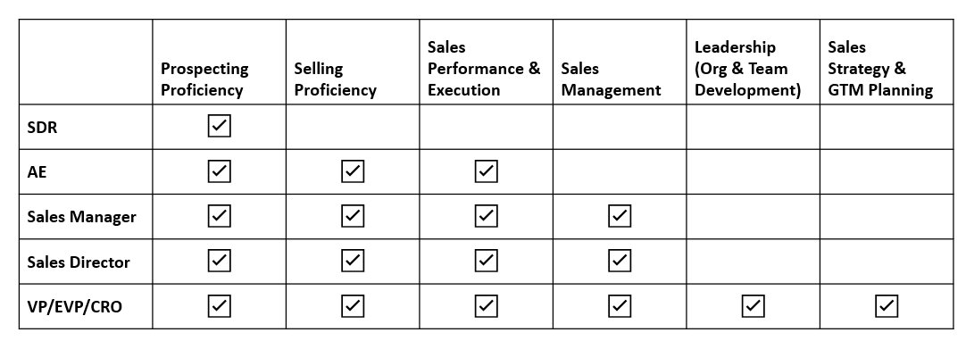 Building an Effective Sales Org - The Skillset Matrix
